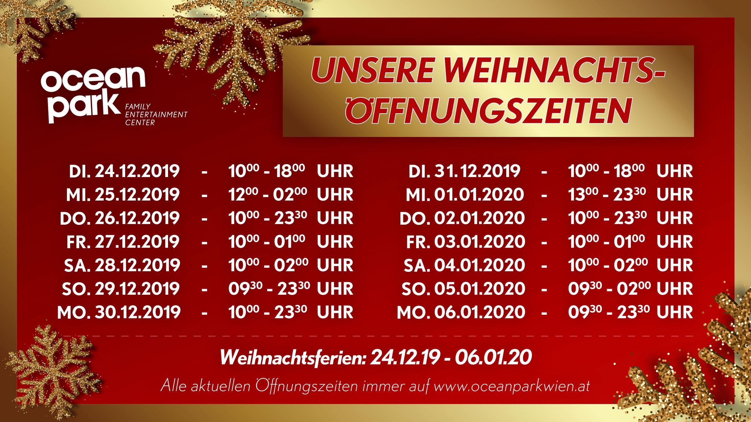 weihnachtsoeffnungszeiten